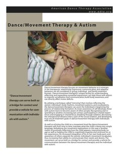 Dance/Movement Therapy with individuals diagnosed with Autism www.adta.org #DanceTherapy #DanceMovementTherapy #Autism #AutismAwareness #AutismTreatment