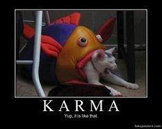Karma - Demotivational Poster