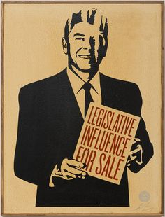 Shepard Fairey, Legislative Influence For Sale (2011), via Artsy.net