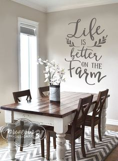 Diy farmhouse kitchen table i heart nap time i heart nap time life is better on the farm vinyl wall decal farmhouse kitchen tablesfarmhouse workwithnaturefo