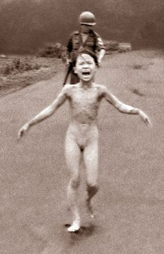 #1 Napalm Girl': An Iconic Image Of War Turns 40 | NCPR News from NPR www.northcountrypublicradio.org On June 8, 1972, AP photographer Nick Ut took this photo of 9-year-old Kim Phuc as she ran from an aeral napalm attack. (AP)
