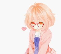 kyoukai no kanata mirai - Anime Manga Anime, Manga Girl, Anime Art, I Love Anime, All Anime, Chibi, Otaku, Mirai Kuriyama, Kyoto Animation