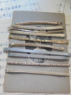 Destash lot of vintage watch bands by salvagegardener on Etsy