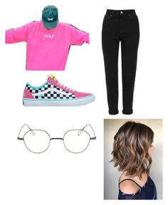 """""""current outfit lmao"""" by depressed-hoe6669420 ❤ liked on Polyvore featuring Golf Wang, Topshop and Stephane + Christian"""