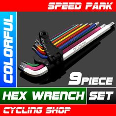 New Colorful Hex Wrench Set 9 Piece 1 5 2 2 5 3 4 5 6 8 and 10mm | eBay
