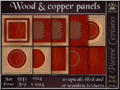 Wood & copper paneling