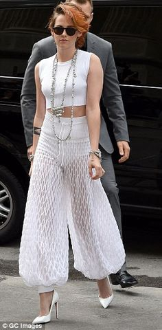 Genie: The actress wore a pair of interesting crocheting trousers which were sheer