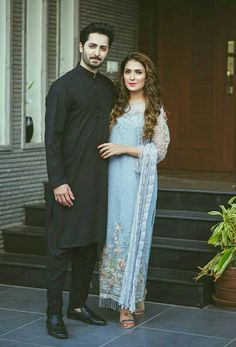 Ayeza Khan and danish taimoor Pakistani Wedding Outfits, Pakistani Girl, Pakistani Actress, Pakistani Bridal, Pakistani Dresses, Cute Couple Dp, Stylish Couple, Stylish Girls Photos, Ayeza Khan Wedding