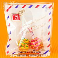 FREE SHIPPING Effie tower cookie biscuit bags gift self adhesive bakery packaging bag wedding favor 100pc/lot 3.9*4.3+1.2""