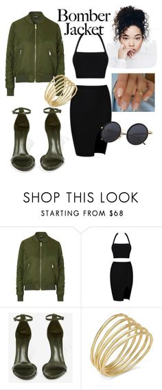 """""""City Style"""" by kylaaa4 ❤ liked on Polyvore featuring Topshop, Schutz, Lauren Ralph Lauren and bomberjackets"""