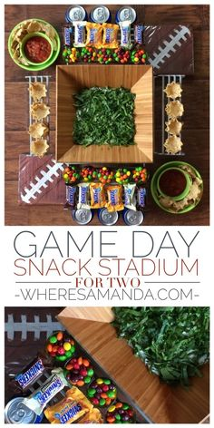 Game Day Snack Stadium for Two #football #ad #GameDayGlory