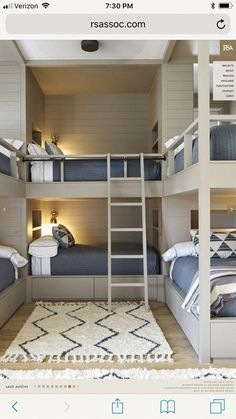 Awesome and Spirited Bunk Beds Concepts - Vivid or single layouts of can take advantage of the purchase of an awesome bunk bed. We provide you 30 trendy and lively bunk bed suggestions. Bunk Bed Rooms, Cool Bunk Beds, Kids Bunk Beds, Best Bunk Beds, Build In Bunk Beds, Cabin Bunk Beds, Home Bedroom, Kids Bedroom, Bedroom Decor
