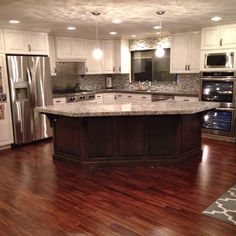 50 new Ideas home renovation kitchen open concept counter tops Kitchen Remodel Cost, Kitchen Redo, Living Room Kitchen, New Kitchen, Kitchen Small, Kitchen Ideas, Kitchen Cabinets, Condo Kitchen, Ranch Kitchen