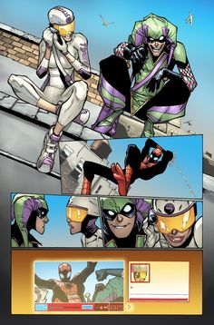 Panels from Spider-Man by Humberto Ramos