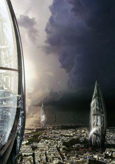 """imthenic: """"Futuristic cityscape by everlite """""""