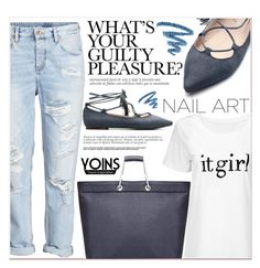 """IX/17 Yoins"" by lucky-1990 ❤ liked on Polyvore featuring H&M, Yves Saint Laurent and yoins"