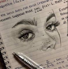 new ideas for eye drawing aesthetic - Drawing Pencil Art Drawings, Art Drawings Sketches, Cool Drawings, Sketch Art, Abstract Sketches, Drawings Of Eyes, Eye Sketch, Girl Sketch, Sketch Ideas