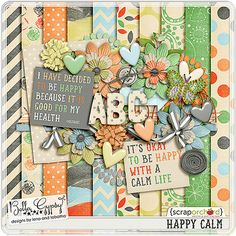 Happy Calm Life Mini Kit Free https://www.facebook.com/bellagypsydesigns/app_14167664298