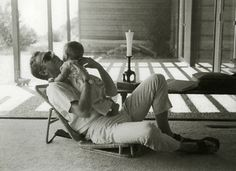Steve McQueen and his son