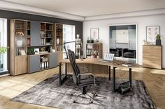 professional office with harmonic colors