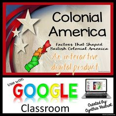This new interactive digital product for your Google Classroom or Google Slides will be 50% off for the first 48 hours until Tuesday, October 25th @ 7:00 p.m.This interactive digital resource will keep your students actively engaged in your Google Classroom as they complete THREE different lessons teaching about the New England, Middle, and Southern Colonies.
