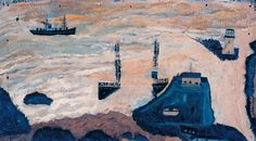 Alfred Wallis, 'Wreck of the Alba' c.1938–9