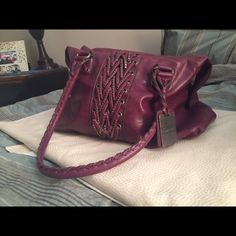 """▶️Final Price▶️J Simpson Faux Leather J Simpson Deep Orchid Faux LeatherOver The Shoulder Measures: Front 1' 3"""" Width 6"""" Depth 9"""" Drop 1Bundle to save 10% Please see last pic single lose braid (can be tucked, sewn or cut)Priced accordingly. Jessica Simpson Bags Shoulder Bags"""