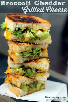 Broccoli and Cheddar Grilled Cheese