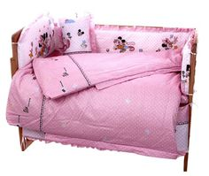 79.80$  Watch here - http://alixyj.worldwells.pw/go.php?t=32331118939 - Promotion! 10PCS Mickey Mouse Baby Bed Set Baby Cot Crib Bedding Sets Mom's Best Choice In Stock (bumper+matress+pillow+duvet) 79.80$
