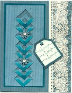 Lattice Wedding card by paperquilter - Cards and Paper Crafts at Splitcoaststampers