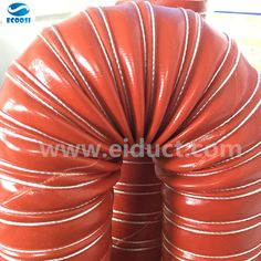 Ecoosi flexible red silicone duct hose