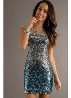 Short Beaded Dress with Open Back