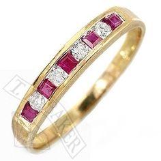 Stunning 9ct Diamond & Ruby Eternity Ring