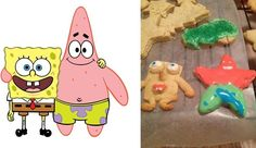 Spongebob Cookies:Pinterest fails