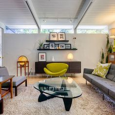 I want this living room - mid-century modern living room