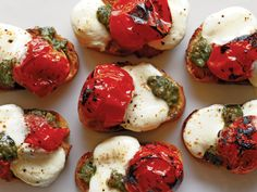 Roasted Cherry Tomato Bruschetta http://www.prevention.com/food/cook/festive-finger-food-recipes