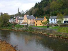 "Avoca, Ireland.  The program ""Ballykissangel"" was filmed here."