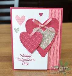 Meant to Be and Forever Lovely - Buckeye InklingsBuckeye Inklings Valentines Day Cards Handmade, Valentine Day Crafts, Greeting Cards Handmade, Happy Valentines Day, Paper Cards, Creative Cards, Anniversary Cards, Homemade Cards, Stampin Up Cards