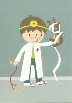 postcard 'get well boy' illustration Role Play Areas, Playing Doctor, Boy Illustration, Only Child, Kindergarten, Happy Kids, Get Well, Elementary Schools, Illustrations Posters