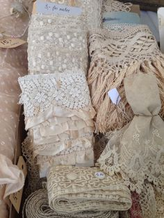 beautiful lace and trim