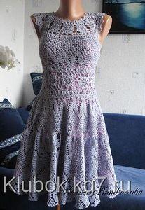 Платье крючком от Нелли Виткаловой