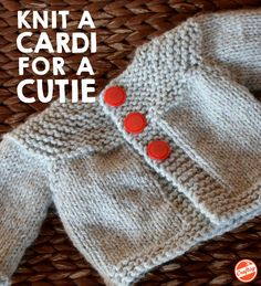 In just an evening or two, you can have a beautiful little cardi for that precious little cutie. Just download this free pattern.