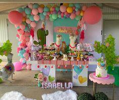 No hay descripción de la foto disponible. Fiesta Theme Party, Fun Party Themes, Balloon Decorations Party, Birthday Party Decorations, Llama Birthday, 9th Birthday Parties, Little Girl Birthday, Mexican Party, First Birthdays