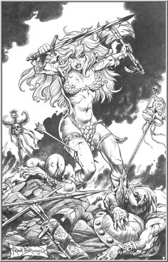 Red Sonja by Frank Brunner.