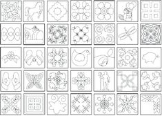 Printable Patterns for Wire Jig Quilting Stitch Patterns, Machine Quilting Patterns, Free Machine Embroidery Designs, Quilt Stitching, Quilt Block Patterns, Quilting Stencils, Quilting Templates, Longarm Quilting, Wire Jig
