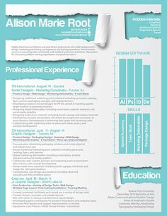 50 Inspiring Resume Designs: And What You Can Learn From Them – Design School Resume Design Template, Resume Templates, Tucson, Job Info, Ab Work, My Design, Graphic Design, Print Design, Creative Resume