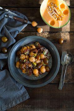 Cantaloupe Tomato Salad Recipe | Fake Food Free