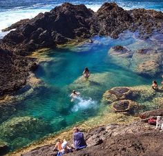 Mermaid pools New Zealand
