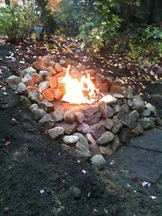 At The Picket Fence: It's Inspiration Friday No. 86! Fire pit built into a hill