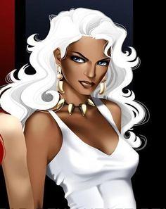 Storm of the X Men. Univers Marvel, Storm Marvel, Storm Xmen, Black Panther Storm, Miss Hulk, X Men Personajes, Ororo Munroe, Black Artwork, Halloween Disfraces
